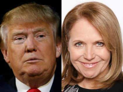 Donald Trump and Katie Couric