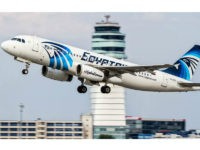 This August 21, 2015 photo shows an EgyptAir Airbus A320 with the registration SU-GCC taking off from Vienna International Airport, Austria. Egyptian aviation officials said on Thursday May 19, 2016 that an EgyptAir plane with the registration SU-GCC, traveling from Paris to Cairo with 66 passengers and crew on board …