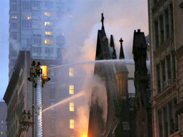 Massive Fire Engulfs Church in Manhattan
