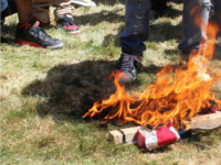 Photos: California Protesters Burn American Flag, Donald Trump Responds