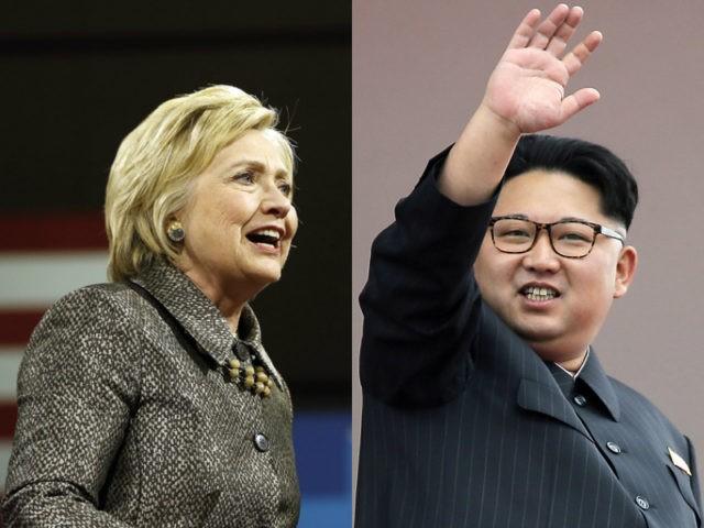 Hillary Clinton and Kim Jong-un