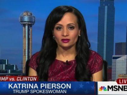 Friday on MSNBC, national spokesman for Donald Trump's campaign Katrina …
