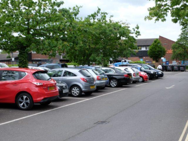 Carpark in hampton where attacks took place
