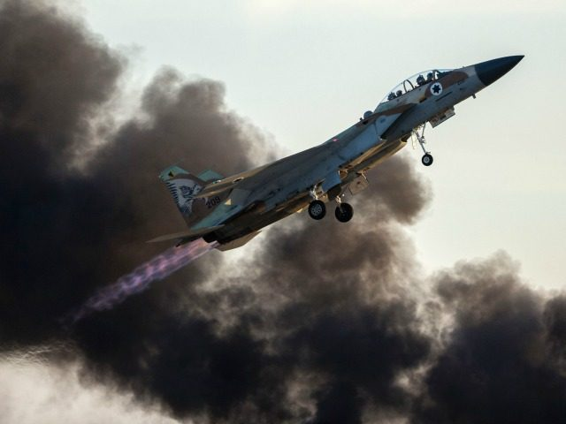 "Israeli fighter jets targeted a Hamas ""military target"" in northern Gaza on Monday in response to Palestinians infiltrating the border and laying bombs the previous day, the army said."