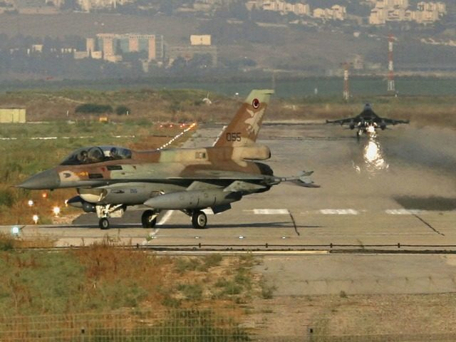 Israeli warplanes land after taking part in mission in Lebanon from Ramat David air force base on July 12, 2006, Ramat David, Israel. An assault on Southern Lebanon was launched by Israel following the capture of two Israeli soldiers. (Photo by Uriel Sinai/Getty Images)