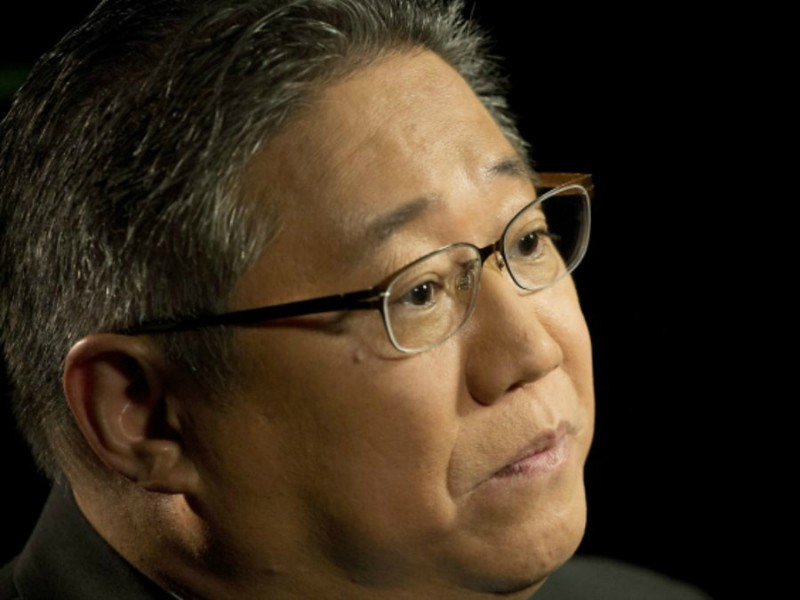 "Kenneth Bae, a U.S. citizen who was detained in North Korea for two years, talks during an interview, Monday, May 2, 2016, in New York. Bae tells his story in a new book, ""Not Forgotten: The True Story of My Imprisonment in North Korea."" He says his detention began when he accidentally brought an external hard drive into the isolated nation. (AP Photo/Mark Lennihan)"
