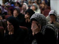 CHINO, CA - DECEMBER 03: Muslim women pray during a prayer vigil at Baitul Hameed Mosque on December 3, 2015 in Chino, California. The San Bernardino community is mourning as police continue to investigate a mass shooting at the Inland Regional Center in San Bernardino that left at least 14 people dead and another 21 injured. (Photo by Justin Sullivan/Getty Images)