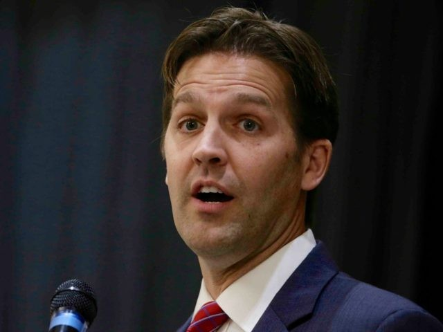 Republican Senate candidate Ben Sasse speaks in Lincoln, Neb., Thursday, Oct. 2, 2014. (AP Photo/Nati Harnik)