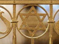 A Star of David is visible among the ornamentation at the Brodyer Synagogue at the ordination of new Rabbis Shlomo Afanasev and Moshe Baumel on August 30, 2010 in Leipzig, Germany.