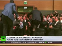 Fistfight Erupts in Turkish Parliament over Constitutional Changes