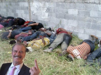 Vicente Fox Middle Finger to Cartel Victims