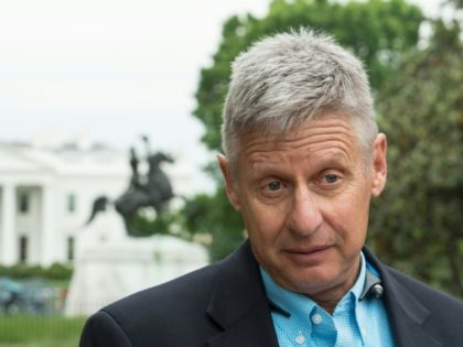 US Libertarian Party presidential candidate Gary Johnson speaks to AFP during an interview in Washington, DC on May 9, 2016
