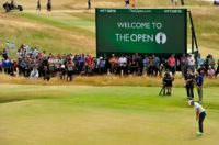 Rory McIlroy is pictured at Muirfield during the first round of the 2013 British Open