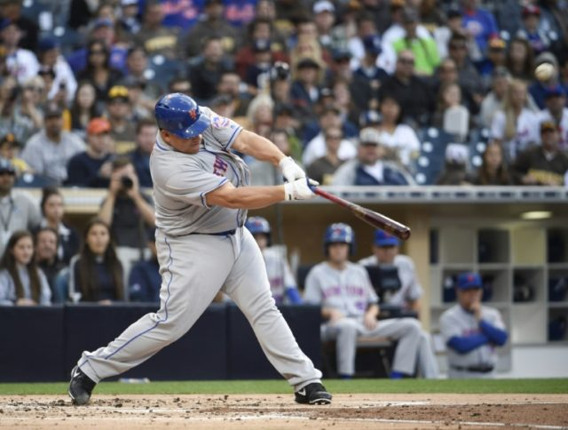 Bartolo Colon three weeks shy of his 43rd birthday, sent a 1-1 pitch from Padres starting pitcher James Shields into the left field bleachers in his 226th career at-bat
