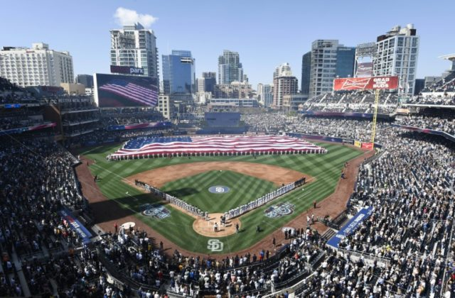 Controversy flared when the San Diego Gay Men's Chorus attempted to perform the national anthem at Petco Park