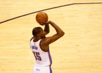 Oklahoma City Thunder's Kevin Durant scored 33 points in the rout of defending NBA champion Golden State
