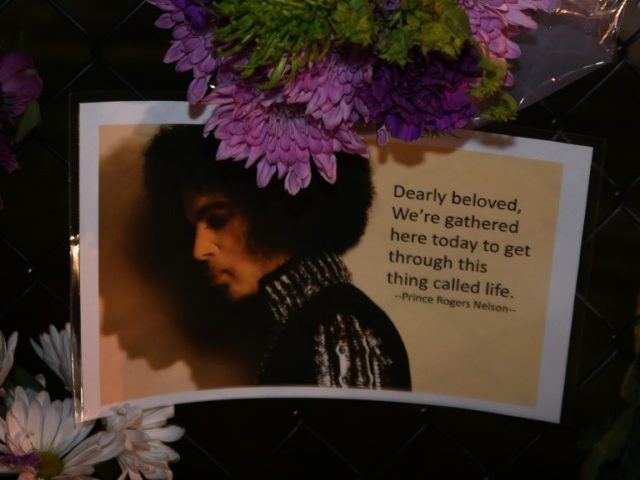 Messages left by fans outside Prince's Paisley Park compound in Minneapolis, Minnesota on April 21, 2016