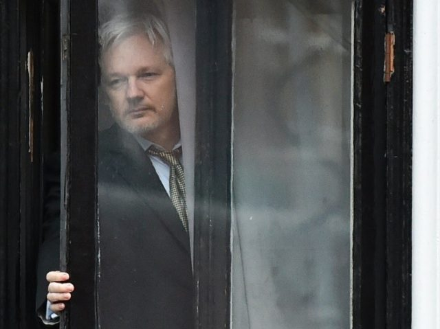 WikiLeaks founder Julian Assange, pictured on February 5, 2016 on the balcony of the Ecuadorian embassy