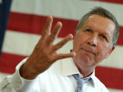 Republican presidential candidate John Kasich, pictured on April 25, 2016, will reportedly suspend his campaign