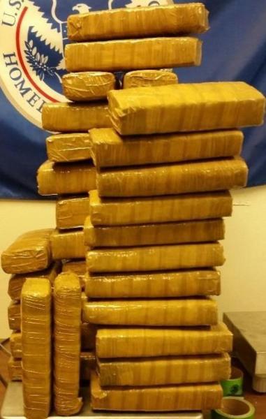 288 pounds of marijuana seized at Hidalgo International Bridge. (Photo: CBP.gov)