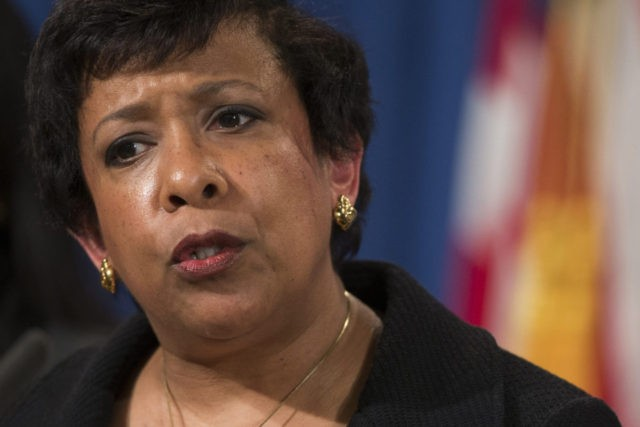 FILE - In this May 9, 2106 file photo, Attorney General Loretta Lynch speaks during a news conference at the Justice Department in Washington after North Carolina sued the federal government in a fight for a state law that limits protections for lesbian, gay, bisexual and transgender people. The federal …