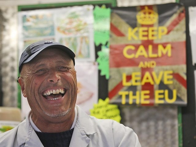 Fishmonger Dave Crosbie speaks to the Associated Press at the market in Havering's Romford street market in London, Wednesday, June 1, 2016. When Britain decides on Thursday June 23, 2016, whether to leave the European Union, London's voice may prove decisive. But for which side? Britain's capital, home to almost …