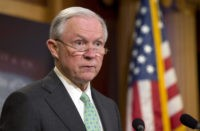 Sen. Jeff Sessions, R-Ala. speaks during a news conference on Capitol Hill in Washington, Thursday, June 23, 2016, to discuss the Supreme Court's immigration ruling. The Supreme Court deadlocked Thursday on President Barack Obama's immigration plan that sought to shield millions living in the U.S. illegally from deportation, effectively killing …