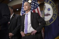 House Benghazi Committee Chairman Rep. Trey Gowdy, R-S.C., steps back as other Republican members of the panel discuss the final report on the 2012 attacks on the U.S. consulate in Benghazi, Libya, where a violent mob killed four Americans, including Ambassador Christopher Stevens, Tuesday, June 28, 2016, during a news …
