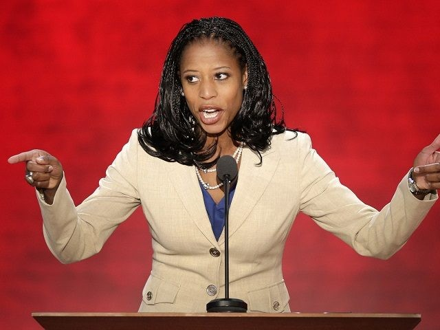 Mayor of Saratoga Springs, Utah, Mia Love addresses the Republican National Convention in Tampa, Fla., on Tuesday, Aug. 28, 2012. (AP Photo/J. Scott Applewhite)