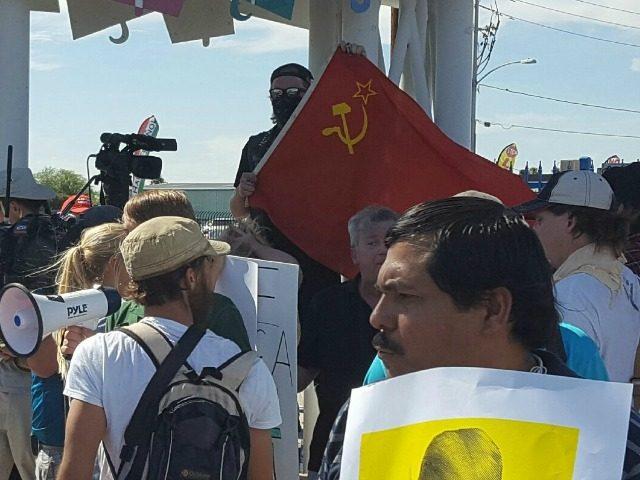 Anti Trump Communist Flag