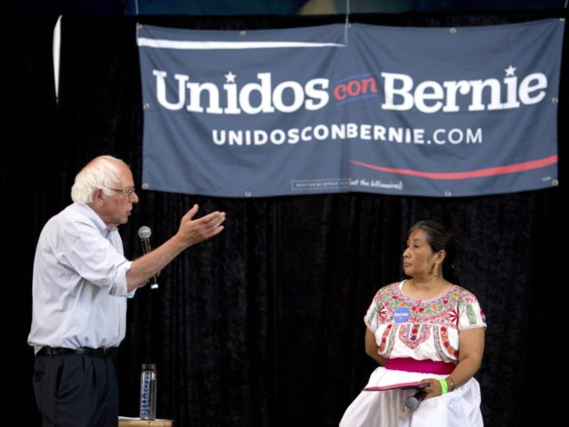 Bernie Sanders at Oaxaca (David McNew / Getty)
