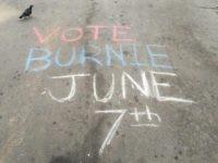Bernie Sanders chalk (Joel Pollak / Breitbart News)