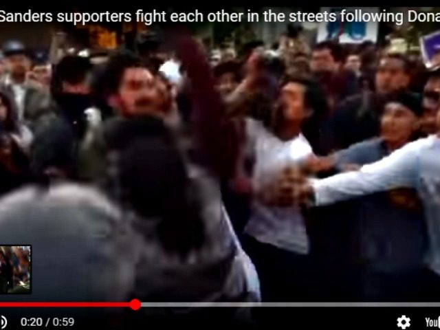 Bernie Supporters Fight Each Other