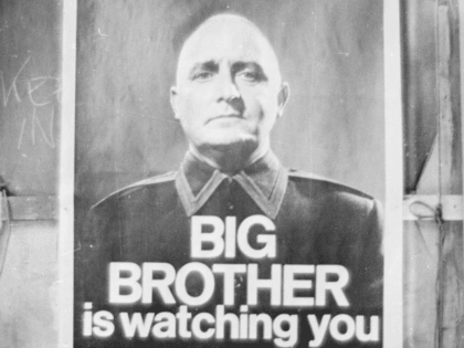 29th June 1965: A poster with the famous words 'Big Brother is Watching You' from a BBC TV production of George Orwell's classic novel '1984'.