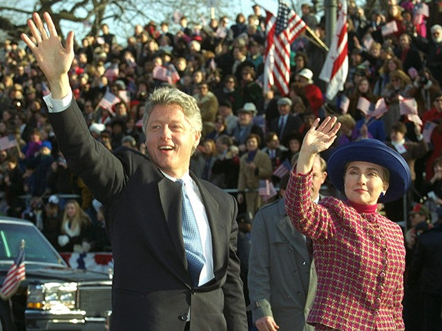 Bill-Clinton-Hillary-Clinton-inaugural-parade-1993-AP