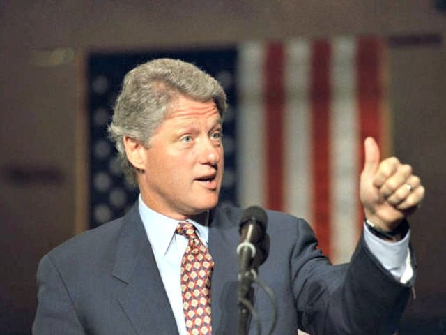 Bill Clinton Thumb Up 1992 AP
