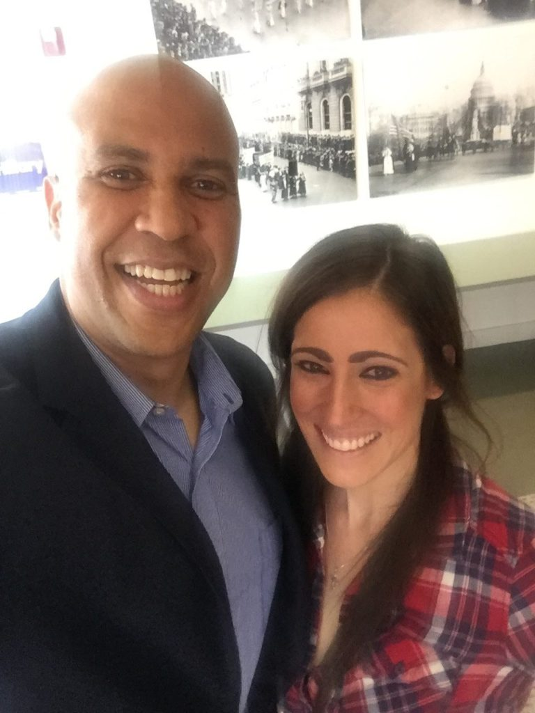 Booker selfie (Cory Booker / Breitbart News)