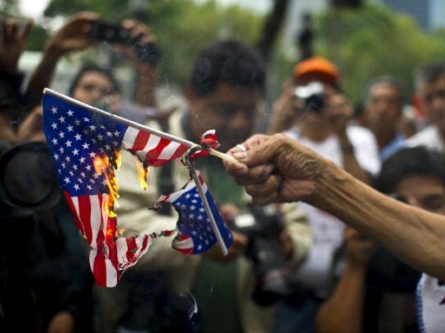 Burning U.S. Flag