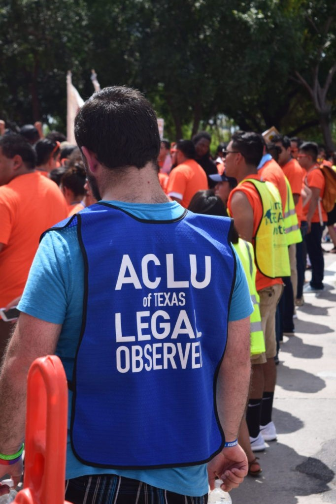 ACLU Legal Observers (Breitbart Texas Photo by Bob Price)