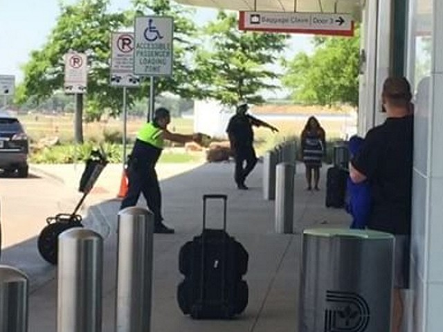 Video dallas love field officer shoots man allegedly