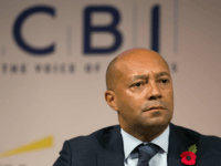Damon Buffini, founding partner of Permira and chairman of the Social Business Trust, addresses delegates at the annual Confederation of British Industry (CBI) conference in central London on November 10, 2014.