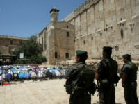 Border police Hebron Tomb of Patriarchs HAZEM BADER/AFP/GettyImages