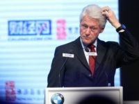 Former US President Bill Clinton during the closing ceremony of China Philanthropy Forum 2013 at China World Hotel on November 18, 2013 in Beijing, China.