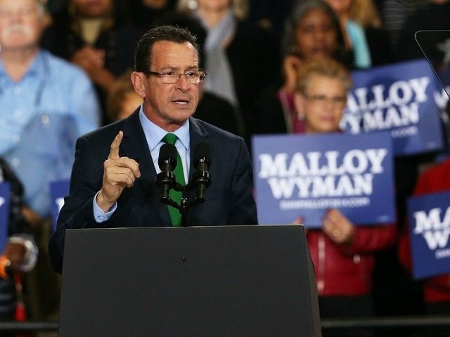 Connecticut Governor Dan Malloy speaks on November 2, 2014 in Bridgeport, Connecticut.
