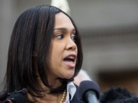 BALTIMORE, MD - MAY 01: Baltimore City State's Attorney Marilyn J. Mosby announces that criminal charges will be filed against Baltimore police officers in the death of Freddie Gray on May 1, 2015 in Baltimore, Maryland. Gray died in police custody after being arrested on April 12, 2015. (Photo by …