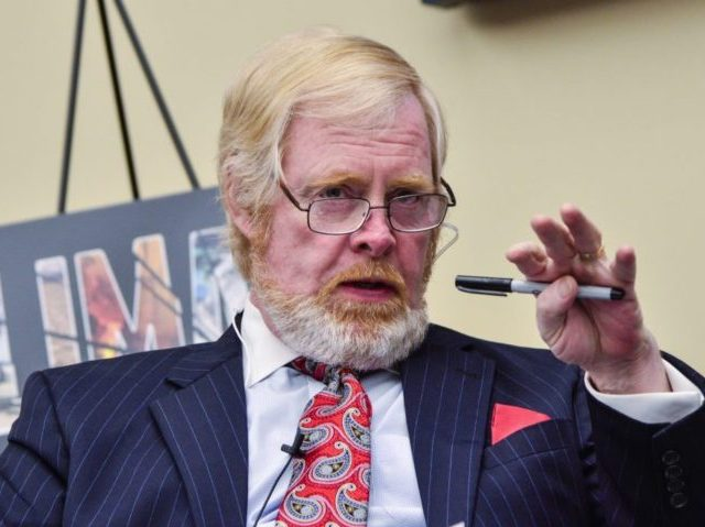 "WASHINGTON, DC - APRIL 14: Brent Bozell, Founder and President of the Media Research Center, speaks during the ""Climate Hustle"" panel discussion at the Rayburn House Office Building on April 14, 2016 in Washington, DC. (Kris Connor/Getty Images)"