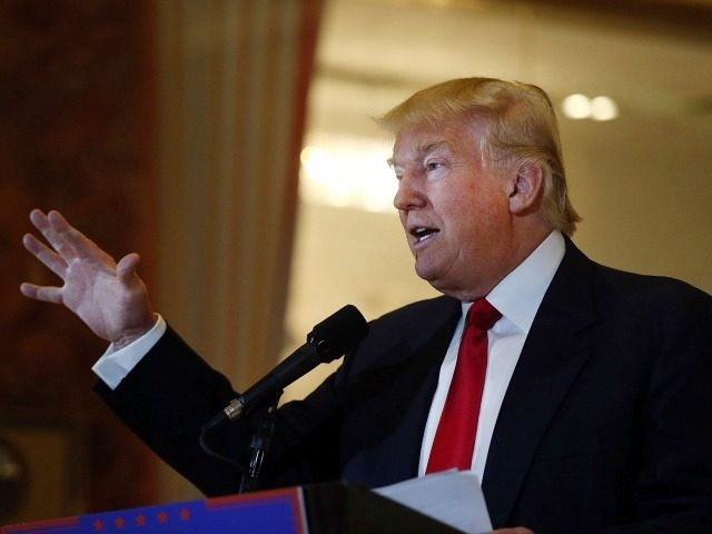 Republican presidential candidate Donald Trump speaks at a news conference at Trump Tower on May 31, 2016 in New York City.