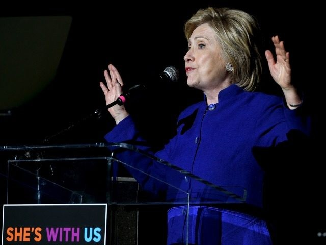 Democratic presidential candidate Hillary Clinton speaks onstage during the 'Hillary Clinton: She's With Us' concert at The Greek Theatre on June 6, 2016 in Los Angeles, California. (Photo by