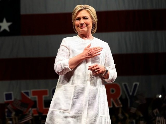 Democratic presidential candidate former Secretary of State Hillary Clinton speaks during a primary night event on June 7, 2016 in Brooklyn, New York.