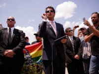 ORLANDO, FL - JUNE 15: Milo Yiannopoulos, a conservative columnist and internet personality, holds a press conference down the street from the Pulse Nightclub, June 15, 2016 in Orlando, Florida. Yiannopoulos was briefly banned from Twitter on Wednesday. The shooting at Pulse Nightclub, which killed 49 people and injured 53, is the worst mass-shooting event in American history. (Photo by Drew Angerer/Getty Images)